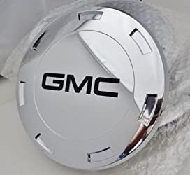CADILLAC ESCALADE 22″ CENTER CAPS SET OF 4 WITH BLACK GMC LOGOS FITS 2007 THRU 2009 ONLY