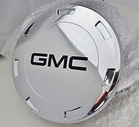 CADILLAC ESCALADE 22″ CENTER CAPS SET OF 4 WITH BLACK GMC LOGOS FITS 2007 THRU 2009 ONLY