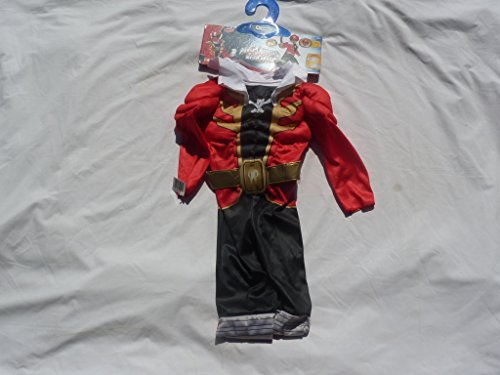 Power Rangers Super Mega Force Red Kids Costume 3T-4T