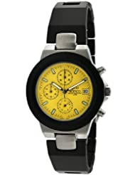 gino franco Men's 967YL Round Chronograph Stainless Steel Bracelet Watch