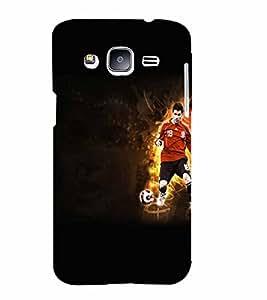 PrintVisa Sports Football 3D Hard Polycarbonate Designer Back Case Cover for Samsung Galaxy J2
