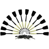 "Commercial Grade Bar Darts 4 Sets 12 Darts All Black With 50 Extra 1/4"" Tips"