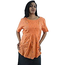 ShopMore Cotton Top(Orange_XL)