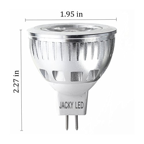 Jacky Led 2Nd Generation Led Mr16 6W Dimmable Cool White Cob Vs 9W 12W 15W 100% Original Epistar Chip Ultra Bright Led Lights Light Bulbs Lamp For Home 55W Equivalent Replacement Perfect Standard Size Lighting Gu5.3 Base 35 Degree (2-Pack)