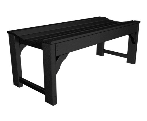 Poly-Wood Traditional Garden 48-Inch Backless Bench, Sand