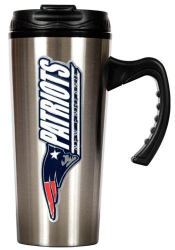 Nfl New England Patriots 16-Ounce Stainless Steel Travel Mug front-611034