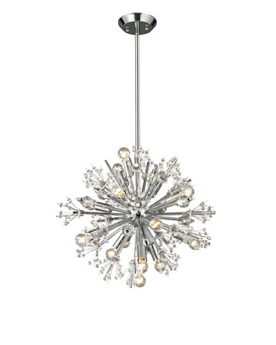 Artistic Lighting Starburst Collection 15-Light Chandelier, Polished Chrome