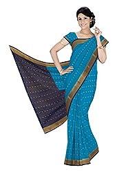 Srinidhi Silks Blue Silk Sari (Ssi 2016 44 A)