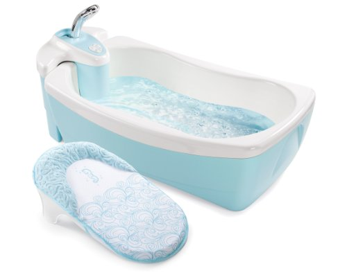 Summer Infant Summer Infant Lil Luxuries Whirlpool Bubbling Spa and Shower Tub, Blue