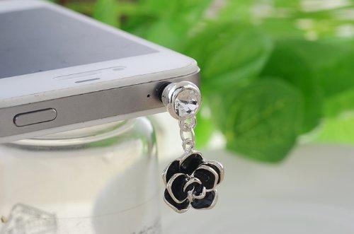 Big Mango Fashion Lovely Roses Flower 3.5Mm Headphone Jack Accessories Anti Dust Plug Ear Cap For Apple Iphone 5C,5S,5,4,4S,Ipad 2,Ipad 3,Ipad 4,Ipad Mini,Ipod Touch ,Samsung Galaxy S2 S3 S4 Galaxy Note 3 Note 2 Htc,Blackberry (Silver Edge)