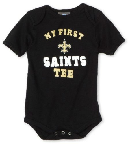 New Orleans Saints Black Infant Onesie Size 3-6 Bodysuit Creeper - My First tee at Amazon.com