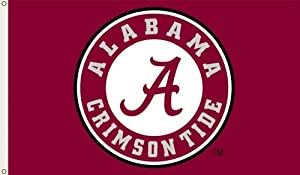 NCAA Alabama Crimson Tide Circle A Logo 3-by-5 Foot Flag with Grommets