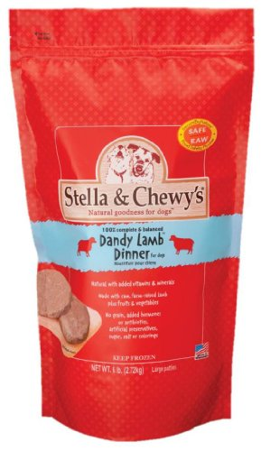 Stella & Chewy's Frozen Dandy Lamb Dinner for Dog, 6-Pound