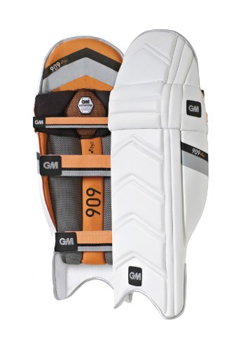 GM 909 D3O Batting Pad -White/Black/Orange, Men's Over Size- Left Hand