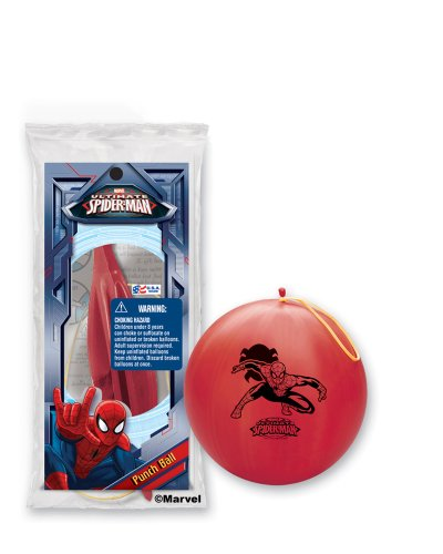 Pioneer National Latex Spider-Man Punch Balls, Assorted, 6-Piece