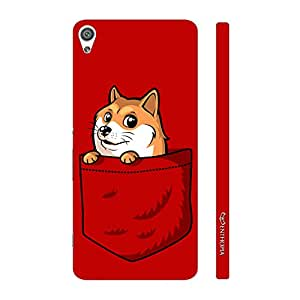 Enthopia Designer Hardshell Case Fox in the Pocket Back Cover for Sony Xperia XA