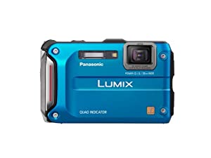 Panasonic Lumix TS4 12.1 TOUGH Waterproof Digital  Camera with 4.6x Optical Zoom (Blue)