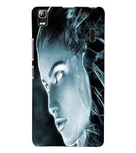 ColourCraft Scary Girl Design Back Case Cover for LENOVO A7000 PLUS