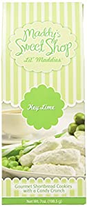 Maddy's Sweet Shop Key Lime Shortbread Cookies, 7-Ounce Boxes (Pack of 6)