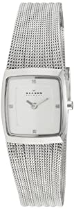 Skagen Ladies Watch 380XSSS1 with Silver Stainless Steel Bracelet and Silver Dial