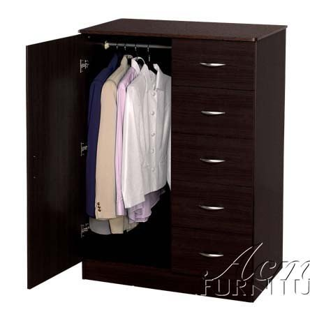 Wardrobe Bedroom Storage Dresser in Espresso Finish