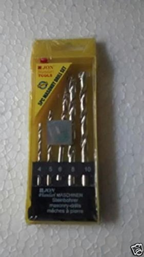 5 Pcs Masonry Drill Bit Set for drilling Concrete and Walls Bits Drill hole by Supreme Traders Supertronics1989