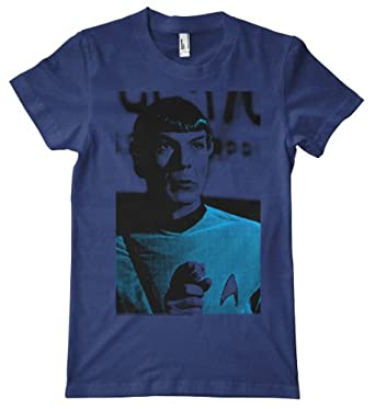 Star Trek - Spock Tri-Blend T-Shirt, Indigo, Small