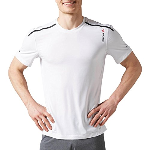 Men's Reebok One Series ACTIVChill Bonded SS Top, White, X-Large