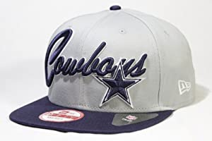 New Era Super Script 9FIFTY Snapback Hat Dallas Cowboys!! by New Era