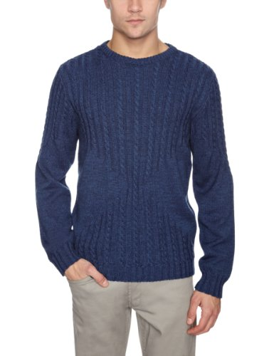 Soulland Born Men's Jumper Navy Medium