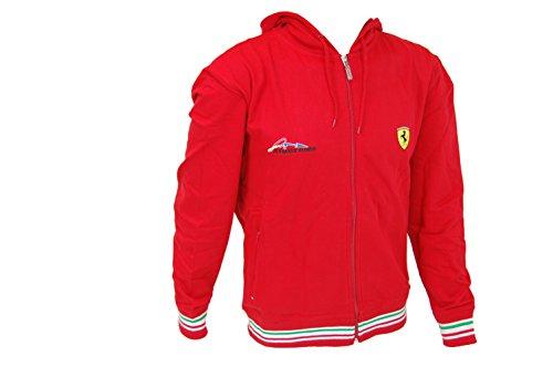 Ferrari Da Uomo Alonso con cappuccio felpa con cappuccio sudore Jacket- Rosso S M L XL, XXL- RRP 127 Red Large