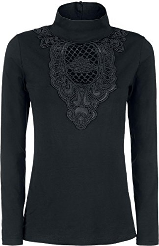 Gothicana by EMP Crocheted Detail Longsleeve Manica lunga donna nero L