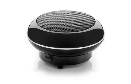 Cabstone SoundDisc (4,0 W Lautsprecher, Bassgehäuse, Lithium-Ionen-Akku bis 6 Stunden, 360° Klangfeld, AUX-In) schwarz