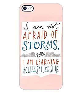 ColourCraft Quote Design Back Case Cover for APPLE IPHONE 4S