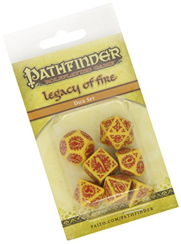 Pathfinder Legacy of Fire Dice, Set of 7
