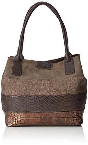 Tom Tailor AccMiri Mix - Borsa shopper Donna , Marrone (Braun (braun 29)), 43x28x17 cm (B x H x T)