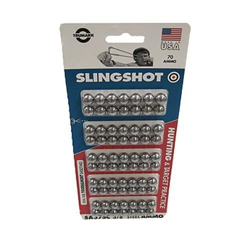 Ammo - Slingshot - 3/8In Steel - 70Ct Cd - 1