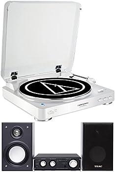 Audio Technica Bluetooth Stereo Turntable Bundle