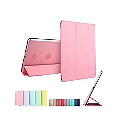 Smart Cover for Apple IPAD MINI /IPAD MINI 2, Go Crazzy Translucent Back Flip Case for Apple IPAD MINI /IPAD MINI 2 (Pink)