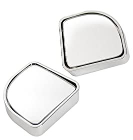 """Custom Accessories 71173 Chrome 2"""" Round Adjustable Blind Spot, (Pack of 2)"""