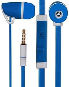 Premium 3.5mm Designed In Ear Bud Earphones Headset Handsfree Compatible For Lenovo A2010 -Royal Blue