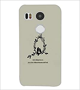 PrintDhaba Quote D-3761 Back Case Cover for LG NEXUS 5X (Multi-Coloured)