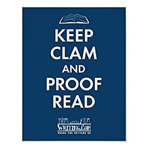 Keep Clam and Proofread Poster