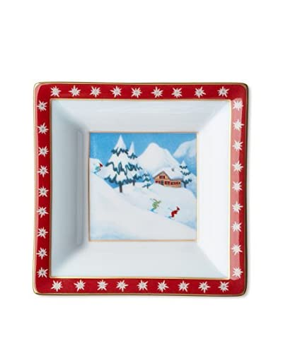 Chopard Happy Snow Edelweiss Accessory Pin Tray, White/Red