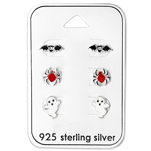 Set of 3 Halloween Stud Earrings