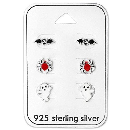 Set of 3 Halloween Stud Earrings