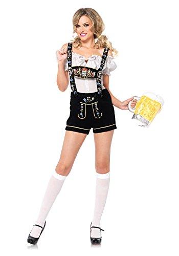 [Edelweiss Lederhosen Costume - Small - Dress Size 4-6] (Edelweiss Lederhosen Adult Costumes)