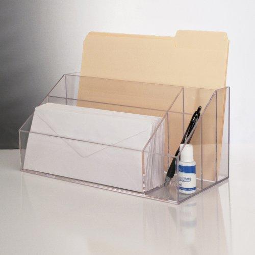new clear acrylic desktop organizer work home office desk