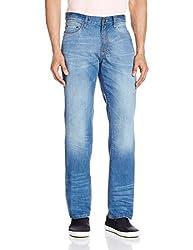 Cherokee Men's Straight Fit Jeans (8907242788883_267695420_32W x 32L_Blue)