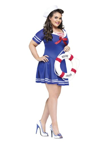 Plus Size Theatre Costumes Sailor Costume Navy Naval Uniform